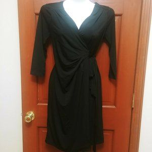 A Pea in the Pod Black Wrap Dress NWT XS